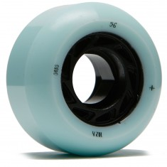 Welcome Orbs Ghost Lites Skateboard Wheels - Light Teal/Black Core - 56mm 104A