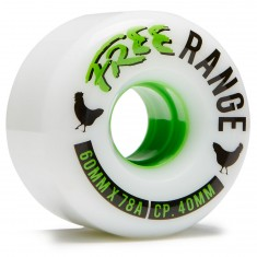 Free Range Longboard Wheels - 60mm 78a - White