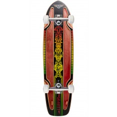 "Gravity Rasta Cruiser 30"" Longboard Complete - Red Stain"