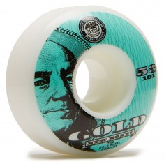 Gold New Money Skateboard Wheels - 53mm