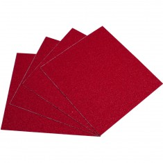 Blood Orange Heavy Duty Grit Griptape 4-Pack - Red