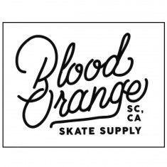 Blood Orange Rectangle Logo Sticker - White - 3.25in