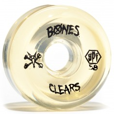 Bones SPF Skateboard Wheels - Clear Natural