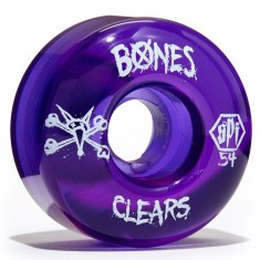 Bones SPF Skateboard Wheels - Clear Purple - 54mm