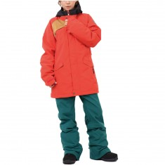Bonfire Frances Womens Snowboard Jackets - Cherry/Camel