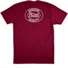 Brixton Merced T-Shirt - Burgundy
