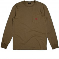 Brixton Stith Long Sleeve Pocket T-Shirt - Dusty Olive