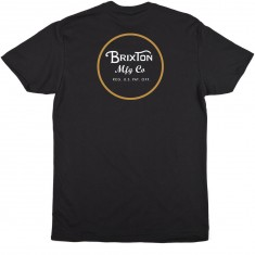 Brixton Wheeler T-Shirt - Black/Yellow