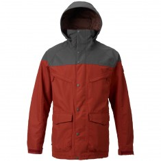 Burton Breach Shell Snowboard Jacket - Fired Brick/Faded