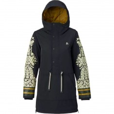Burton Chutout Anorak Womens Snowboard Jacket - True Black