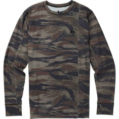 Burton Midweight Crew Snowboard Base Layer - Olive Green/Worn Tiger