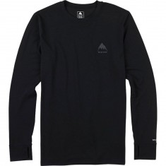 Burton Midweight Crew Snowboard Base Layer Shirt - True Black
