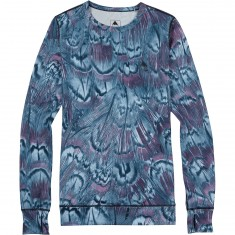 Burton Midweight Crew Womens Snowboard Base Layer Shirt - Feathers