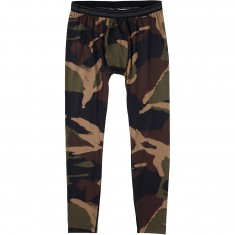 Burton Midweight Snowboard Base Layer Pants - Kelp Derby Camo