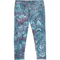 Burton Midweight Womens Capri Snowboard Base Layer Pants - Feathers
