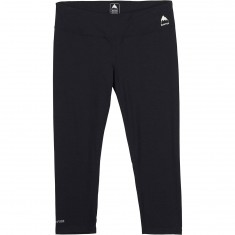 Burton Midweight Womens Capri Snowboard Base Layer Pants - True Black