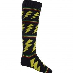 Burton Party Snowboard Socks - Rasta Bolt