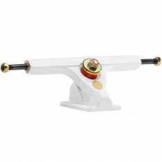 Caliber II Longboard Trucks - White / Gold 44 Degree