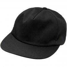 CCS Unstructured Snapback Hat - Black