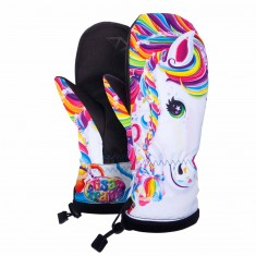 Celtek Bitten By A Mitten Womens Snowboard Gloves - Lisa Frank Rainbow Majesty