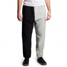 Champion Reverse Weave Colorblock Pants - Oxford Grey/Black