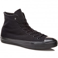 Converse CTAS Pro Hi Shoes - Black/Black Canvas