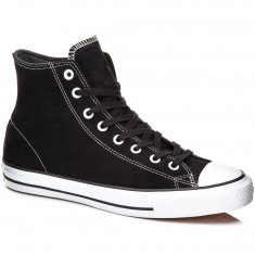 Converse CTAS Pro Hi Shoes - Black/White Suede