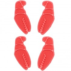 Crab Grab Mini Claw Snowboard Stomp Pads - Red