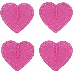 Crab Grab Mini Heart Snowboard Stomp Pad - Pink