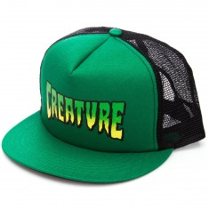 Creature Logo Trucker Hat - Forest/Black