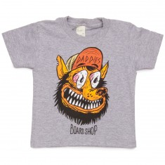 Daddies Board Shop Toddler's Wolf Man T-Shirt - Athletic Grey
