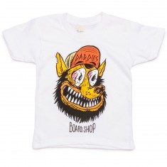 Daddies Board Shop Toddler's Wolf Man T-Shirt - White