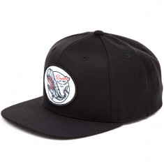 Daddies Board Shop Whale Snapback Hat - Black