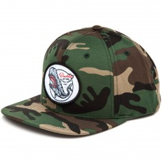 Daddies Board Shop Whale Snapback Hat - Camo