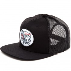 Daddies Board Shop Whale Trucker Hat - Black