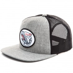 Daddies Board Shop Whale Trucker Hat - Heather Grey/Black