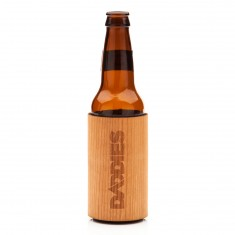 Daddies Board Shop Wood Bottle Koozie - Cherry