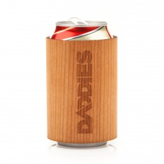 Daddies Board Shop Wood Can Koozie - Cherry