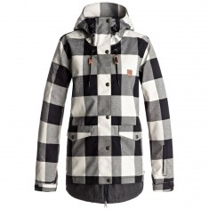 DC Riji SE Womens Snowboard Jacket - OS Buffalo Plaid