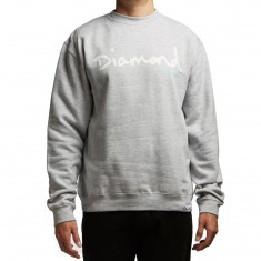 Diamond Supply Co. OG Script Crewneck Sweatshirt - Heather Grey