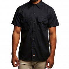 Dickies Slim Fit Flex Twill Work Shirt - Black