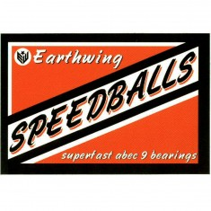 Earthwing Speedballs Sticker - Black / Orange