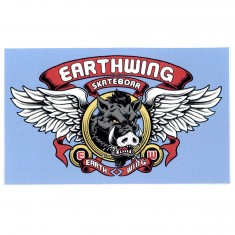 Earthwing Boar and Wings Sticker