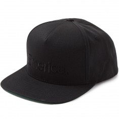 Emerica Pure Snapback Hat - Black/Black