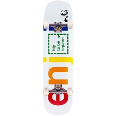 """Enjoi Hip To Be Square R7 Skateboard Complete - White - 8.375"""""""