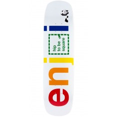 Enjoi Hip To Be Square R7 Skateboard Deck - White - 8.375""