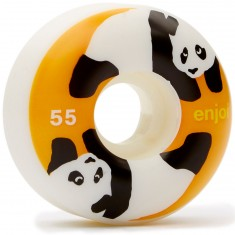 Enjoi Panda Standard Skateboard Wheels - White/Orange - 55mm