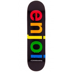 Enjoi Spectrum HYB Skateboard Deck - Black - 8.25""