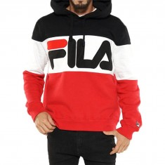 FILA Trayton Hoodie - Black/Chinese Red/White