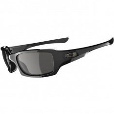 Oakley Fives Squared Sunglasses - Polished Black/Grey